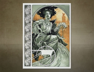 Obraz na plátne A PLATE FROM DOCUMENTS DÉCORATIFS – Alfons Mucha  - AHD19378