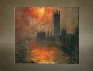 Obraz na plátne THE HOUSES OF PARLIAMENT, SUNSET – Claude Monet  - AHD19387