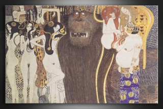 Obraz na plátne THE BEETHOVEN FRIEZE – Gustav Klimt - AHD19410