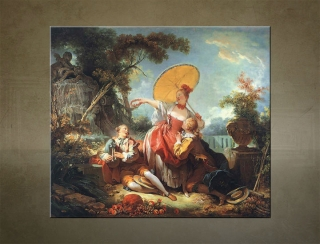 Obraz na plátne THE MUSICAL CONTEST – Jean-Honoré Fragonard  - AHD19451