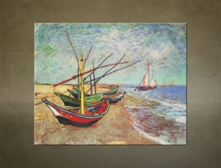 Obraz na plátne FISHING BOATS ON THE BEACH AT SAINTS-MARIES – Vincent van Gogh - AHD19485