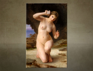 Obraz na plátne WOMAN WITH SEASHELL - Wiliam Bouguereau - AHD19495