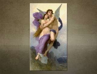 Obraz na plátne THE ABDUCTION OF PSYCHE - Wiliam Bouguereau - AHD19496