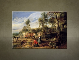 Obraz na plátne MILKMAIDS WITH CATTLE IN A LANDCAPE – Peter Paul Ruben - AHD20601